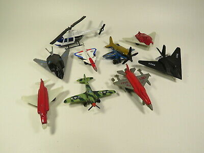 18 Toy Airplanes Helicopters Diecast Plastic
