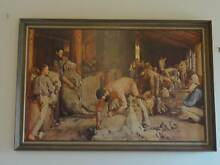 TOM ROBERTS TIMBER FRAMED PRINT SHEARING THE RAMS Scoresby Knox Area Preview