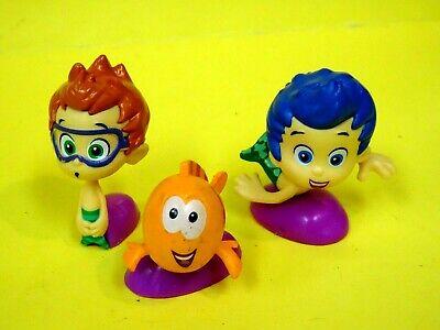 Nickelodeon Bubble Guppies 3 Mini PVC Gil Nonny & Mr Grouper 2013 1.5-2
