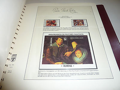 Peter Paul Rubens Barock Kunst Briefmarken Sammlung Gemälde Akt Erotik etc.