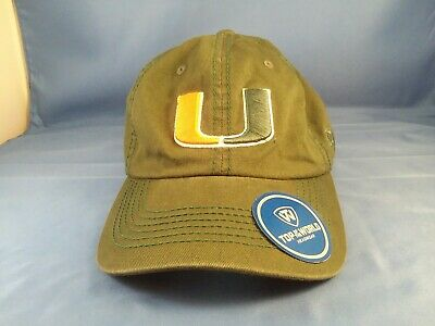 - Top of the World NCAA UNIVERSITY OF MIAMI HURRICANES Hat. Da U. Look!