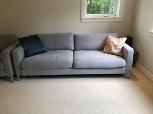 Blue-grey Pull out bed and sectional
