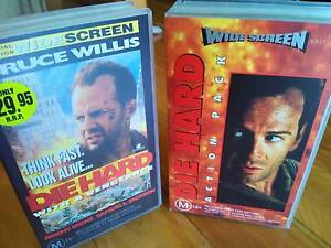 Die Hard 1, 2 & 3 VHS Video Movies VGC Bruce Willis Action Comedy Allawah Kogarah Area Preview