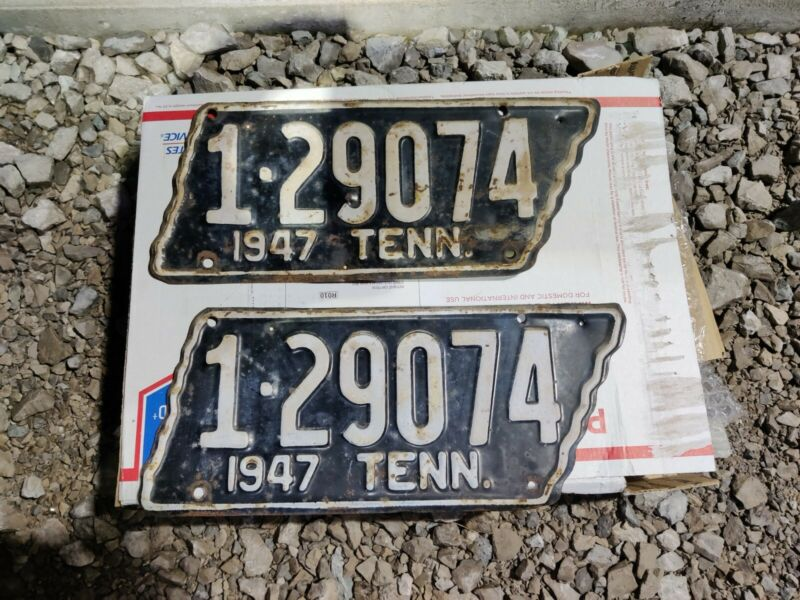 1947 License Plates Tennessee