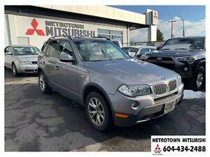 2010 BMW X3 xDrive28i; Local BC vehicle! LOW KMS!