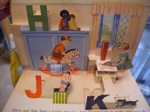 1950s Vintage pop up book ABC Birn Brothers Ltd England illustrated by G Higham