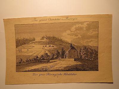 Der grose Thüringische Kandelaber - Stammbuchblatt um 1830 / Altenbergen