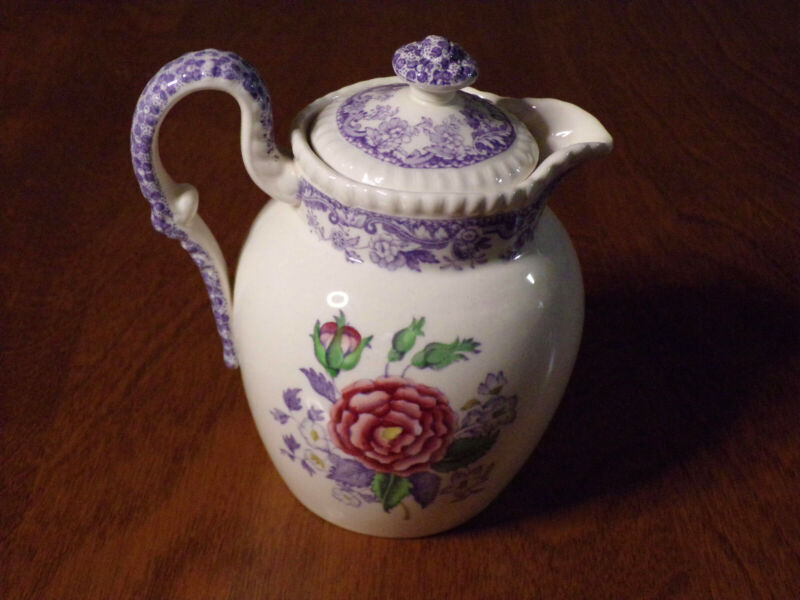 "Vintage Spode Copeland Mayflower England 5"" Creamer Pitcher with lid 2/8772"