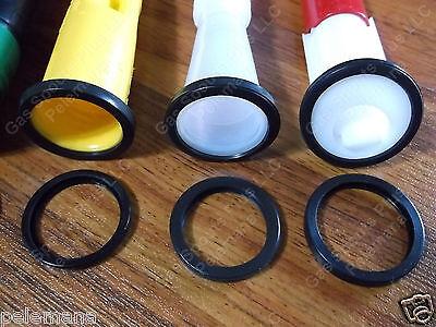 3x Rubber Spout Gaskets Scepter Easy Flo Sceptre Eco Spouts Ez-pour Stop Leak