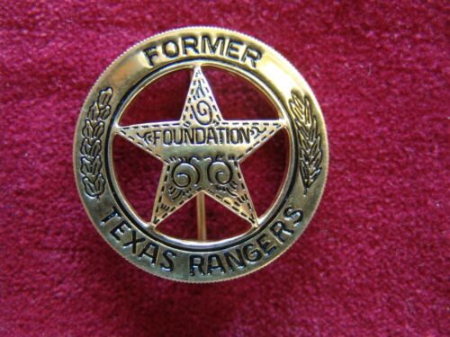 """FORMER TEXAS RANGERS FOUNDATION"" 24k GOLD Plated Cinco Peso Captain Badge byDWA"