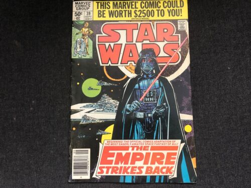 Vintage STAR WARS #39 Comic Book 1980 Marvel Comics Group EMPIRE STRIKES BACK