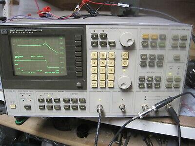 Hewlett Packard Hp 3562a Dynamic Signal Analyzer 2-channel Frequency Responce
