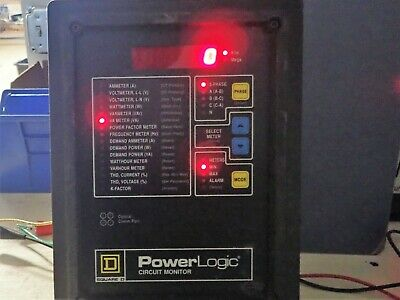Square D Power Logic Circuit Monitor 3020cm2350 Rs-485 3 Phase
