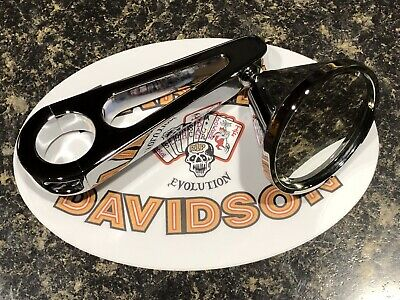 "Harley Davidson And The Marlboro Man Jaybrake 1"" Mirror RARE Obsolete Polished"