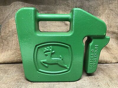 John Deere 40 Lb Quick Tatch Suitcase Weight Deere Logo