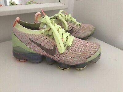 nike air vapormax flyknit Uk3 Lime Green Coral