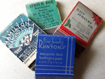 Vintage California Jewelry Stores Match Books