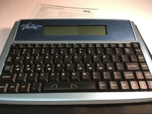 The Writer Plus by Keyboard Instructor Word Processor With Case & Instructions