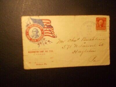 EARLY PATRIOTIC - DRIFTON PA TO HAZLETON PA - 3/24/1908 - BETWWEEN WARS