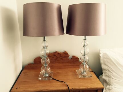 Bedside/Table Lamps & Shades x 2 Wembley Downs Stirling Area Preview