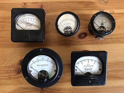 Vintage Lot Gauge Meters Electronics Weston Ferris Fischer Triplett Steampunk