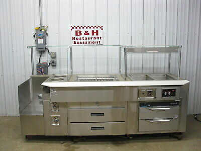 Southern Case Arts Remote Cold 2 Well Hot Food Merchandiser Warmer Deli Display
