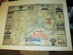Broadbents Map of Victoria and sourinding district 1940,s Colac Colac-Otway Area Preview