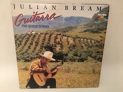 Julian Bream Guitarra The Guitar In Spain Vinyl LP 2 Record Set Red Seal Tested (Julian Bream Guitarra The Guitar In Spain)