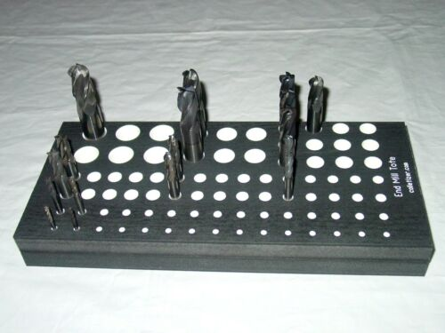 """1/8 3/16 1/4 5/16 3/8 1/2 5/8 3/4"""" inch End Mill Tote Storage Tray Holder #GR"""