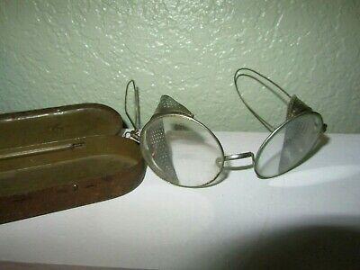 Vintage WWI 1918's Era EyeWear Safety Glasses! Historical Piece! (Historic Eyewear)