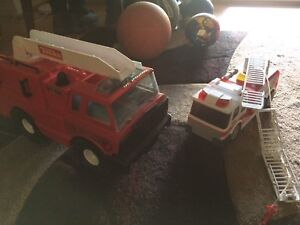 Toy fire truck cars