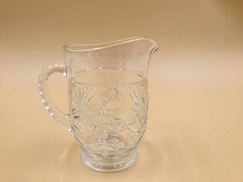 Vintage Early American Prescut Anchor Hocking Star of David 16 oz Pitcher