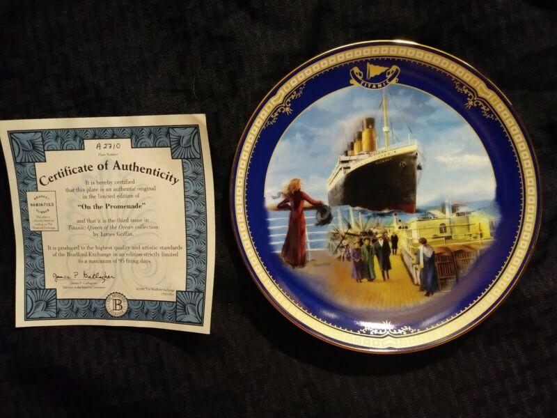 "Antique ""On the Promenade"" Titanic Queen of the Ocean authentic plateware #2710A"