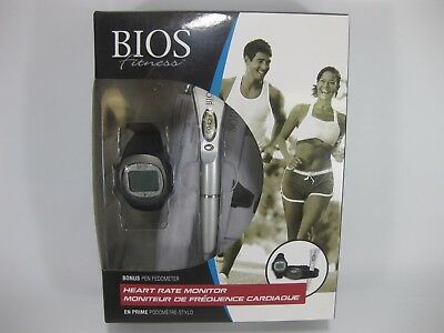 Bios Fitness Heart Rate Monitor w/ Bonus Pen Pedometer NEW