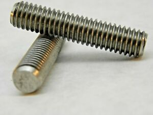 (10) Full Threaded Studs 304 SS, 3/8-16 x 1-3/4 STAINLESS STEEL ROD NH
