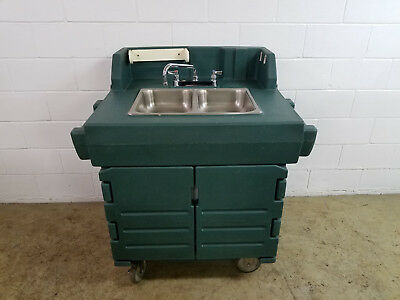 Cambro Ksc402 Portable 2 Compartment Hand Washing Sink Tested Hot Cold 120v