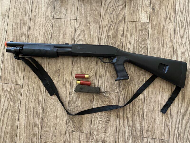 "Firepower MS 35"" Tactical Pump Action/ Spring Airsoft Shotgun (3 BB"