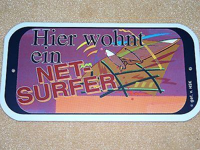 TÜRSCHILD Hier wohnt ein Net - Surfer PC Tablet Laptop Gamer aus Sammlung