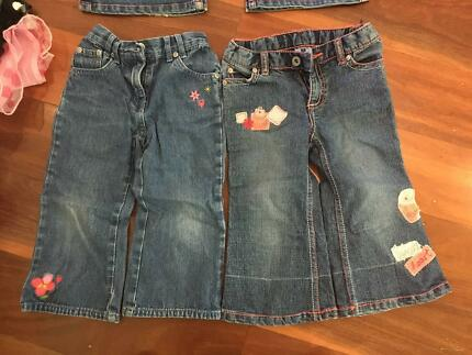 Pumpkin Patch and Mimi Petite Girls Jeans Size 2 and 3