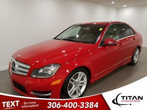 2013 Mercedes-Benz C-Class 300 4MATIC|V6|AWD|Leather|NAV|Sunroof