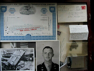 Lot of Original 1960s USAF Airmans Personal Effects incl Jungle Surivial Mirror
