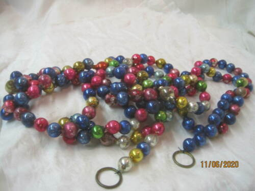 Vintage Glass Beads Christmas Garland multi colors #21