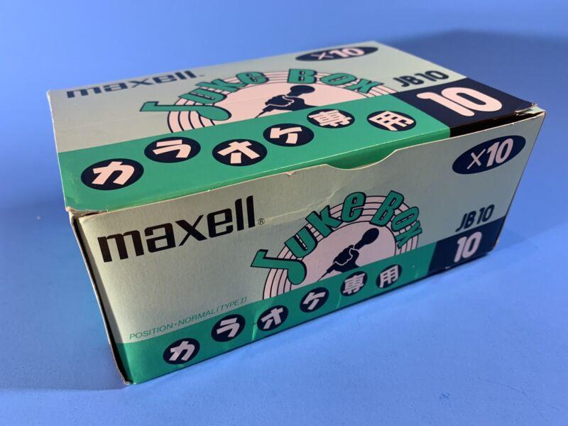 MAXELL JDM Juke Box JB10 x10 Case of Blank Cassette Tapes SEALED NIB