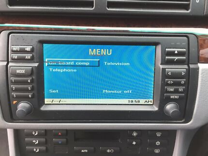 BMW Navigation Monitor.