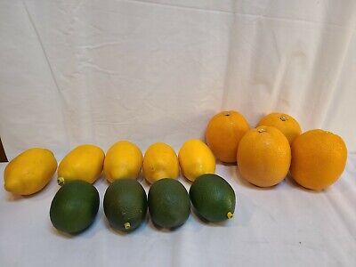 4 Limes 5 Lemons 4 Oranges Decorative Faux Fruit Realistic Handcrafted