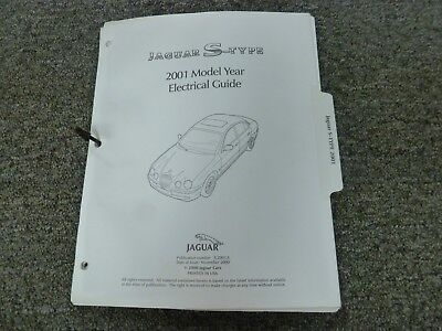 2001 Jaguar S-Type Sedan Electrical Wiring Diagram Manual 3.0L 4.0L V6 V8
