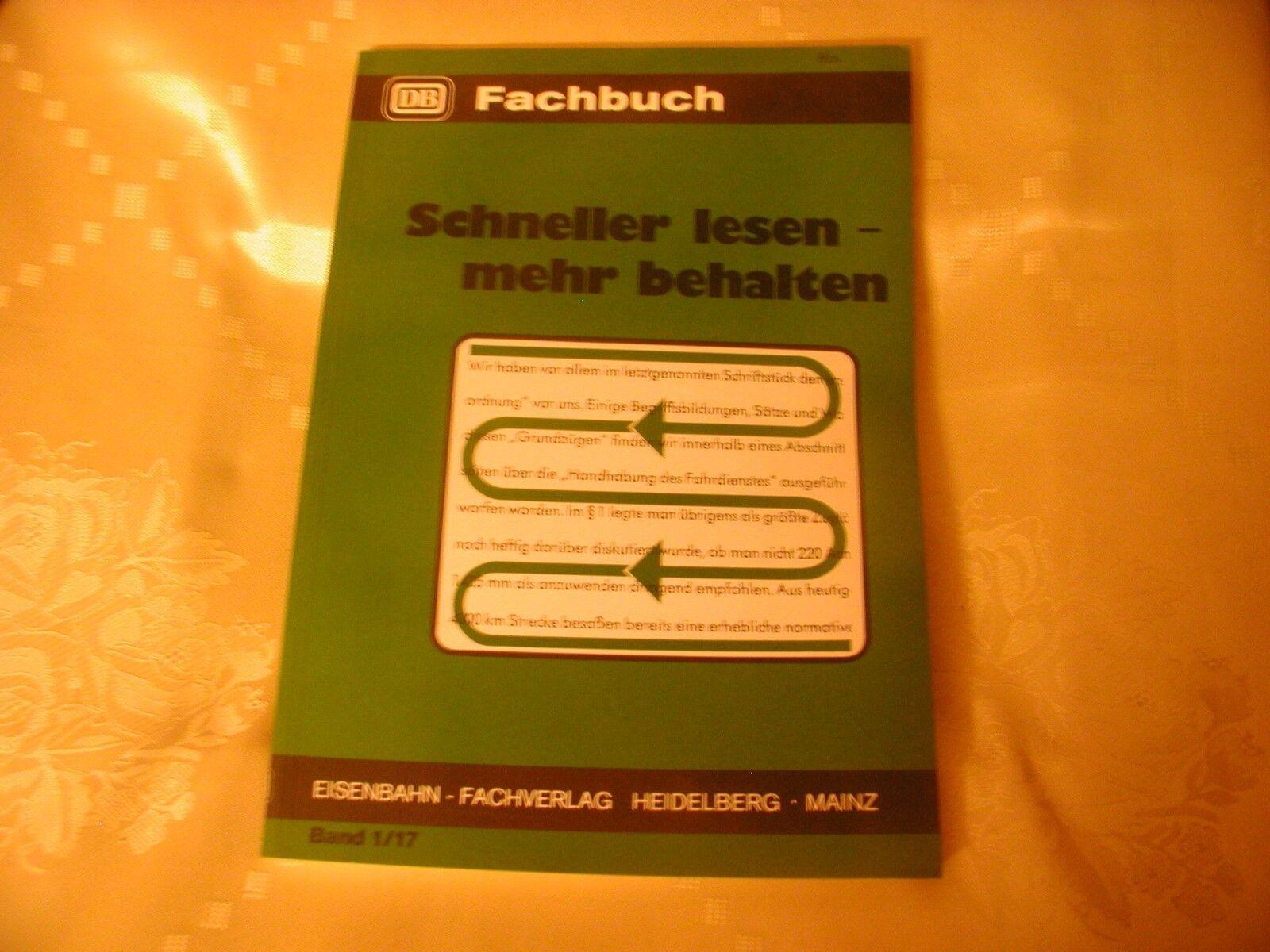 DB Fachbuch Band 1/17 Schneller lesen - mehr behalten