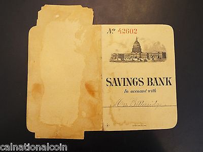 Capital Savings Bank Account Booklet And Advertisement 1889
