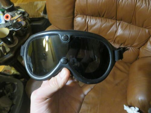 Vintage Military Sun Wind Dust Goggles Genuine Issue 80s Surplus