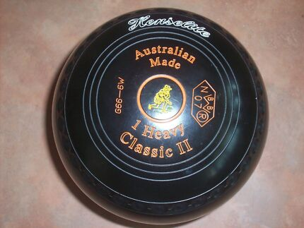 Henselite CLASSIC 11 Lawn Bowls Size 1H Colour Black and Gripped